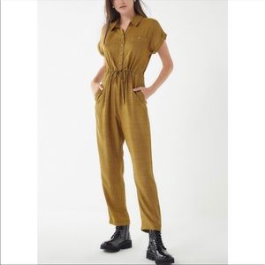 Urban Outfitters Yellow And Black Drawstring Jumpsuit